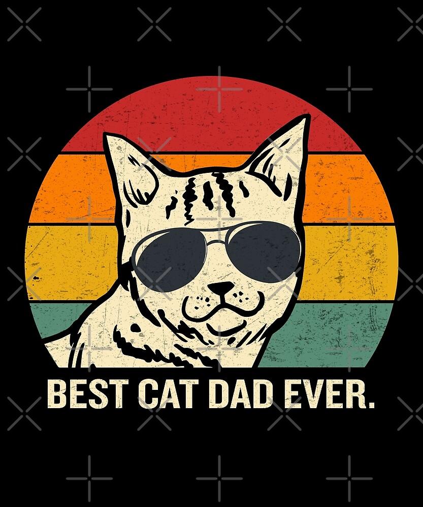 «Las mejores gafas de sol de Cat Dad Ever Vintage Cool Cat» de JapaneseInkArt