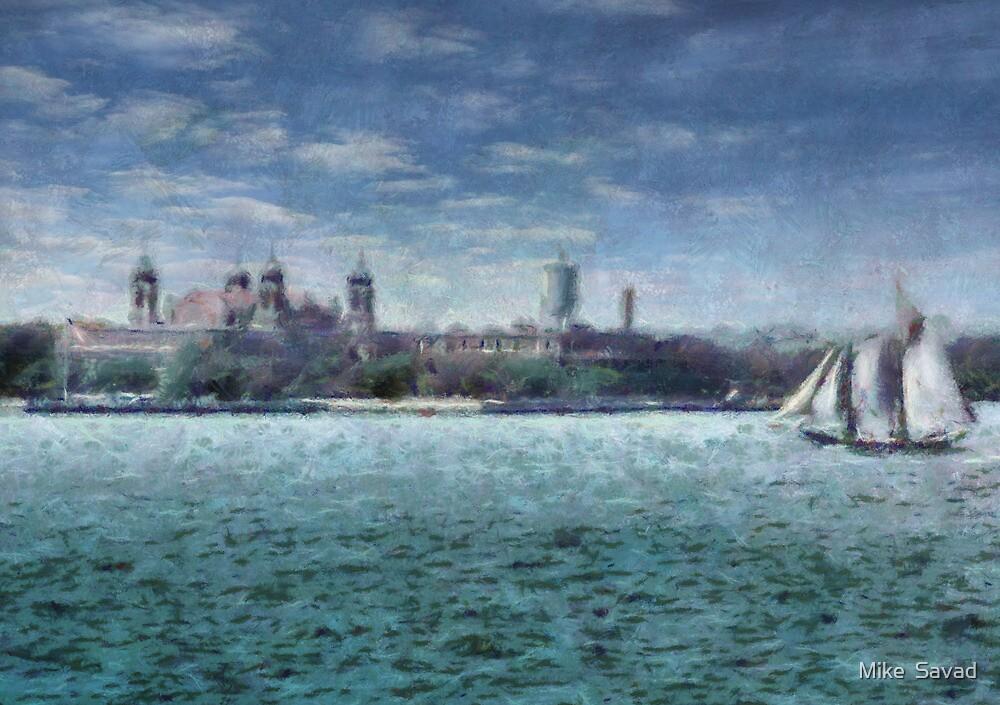 NY - Ellis Island by Michael Savad
