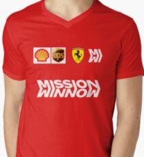 Camiseta de cuello en V Combinación de la scuderia
