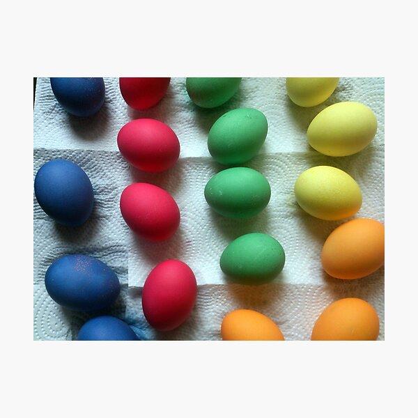 Frisch gefärbte Oster-Eier Fotodruck