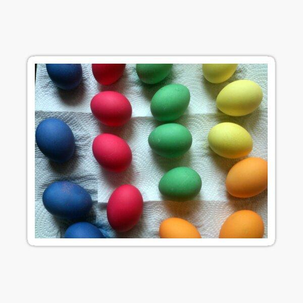 Frisch gefärbte Oster-Eier Sticker