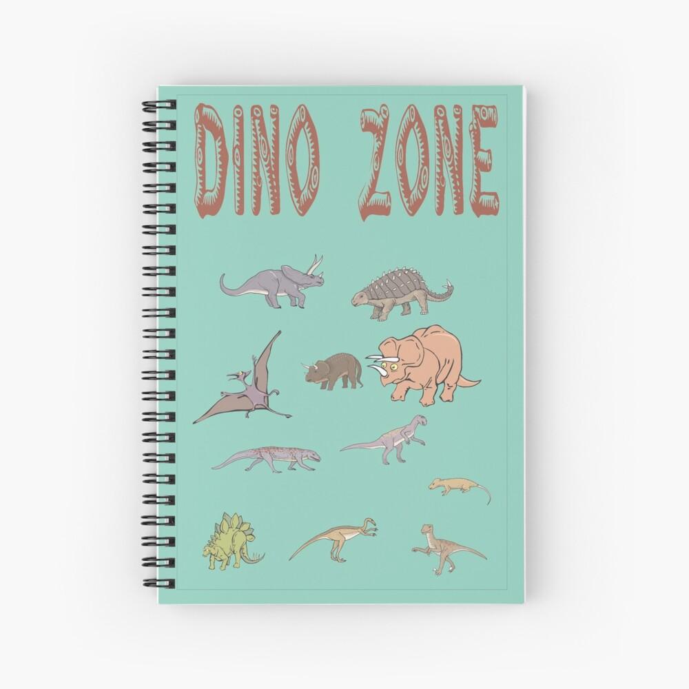 Zona Dino, mundo Dinsaurs, prehistórico. Cuaderno de espiral