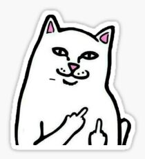Middle finger cat Sticker