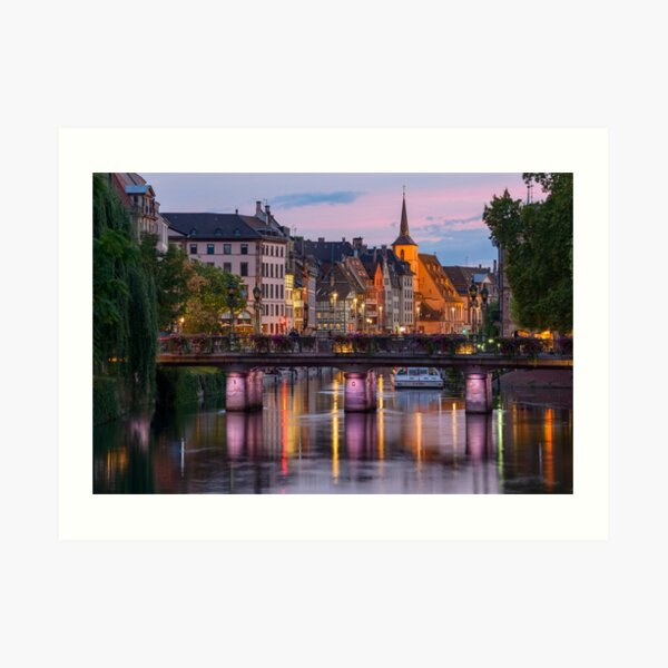 Strasbourg la nuit Impression artistique