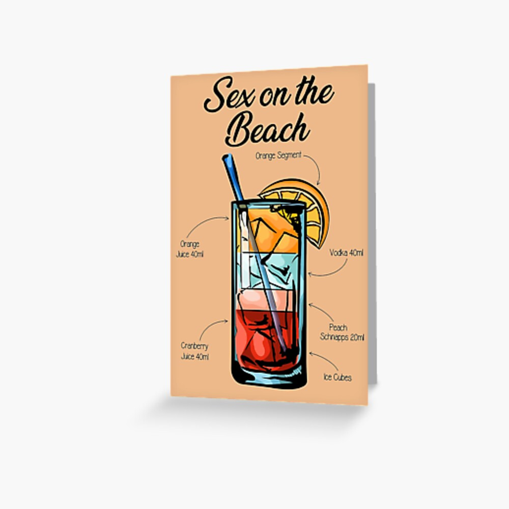 Sex on the beach drink with a blanket recipes