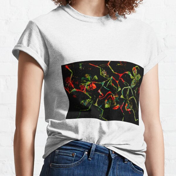 abstract floral shapes on black Classic T-Shirt