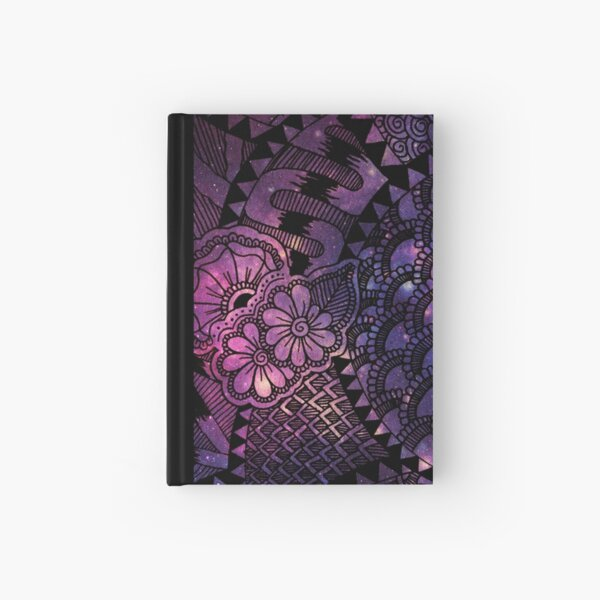 Space Floral Hardcover Journal
