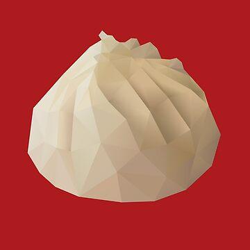 Xiao Long Bao polygon art by polymolystudio