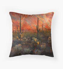 Desert Burn Throw Pillow