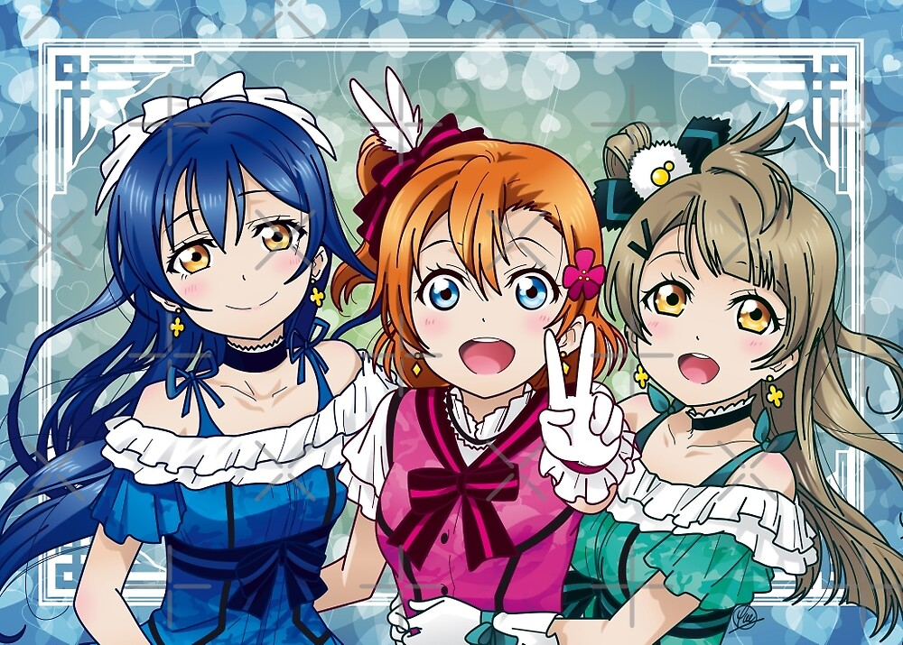 Honoka, Umi & Kotori (KiRa-KiRa Sensation camo edit) by alphavirginis