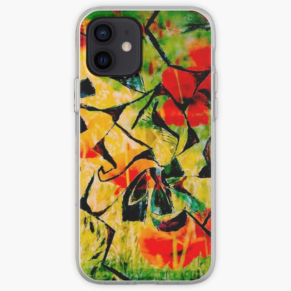 flowery abstract meadow iPhone Soft Case