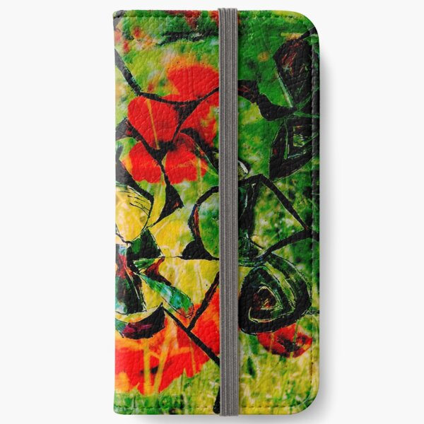 flowery abstract meadow iPhone Wallet