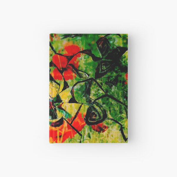 flowery abstract meadow Hardcover Journal