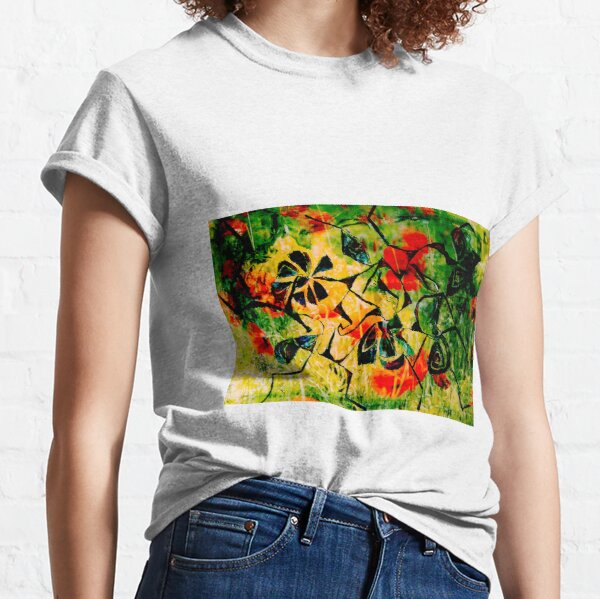 flowery abstract meadow Classic T-Shirt