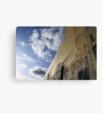 Wall with Unfinished Mural Canvas Print