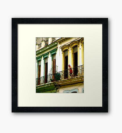Curious Curlers in Cuba Framed Print