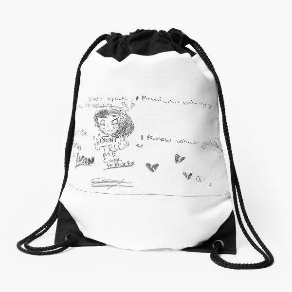 Don't Speak by No Doubt lyric art Drawstring Bag