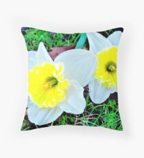 Spring Up With Flowers Throw Pillow