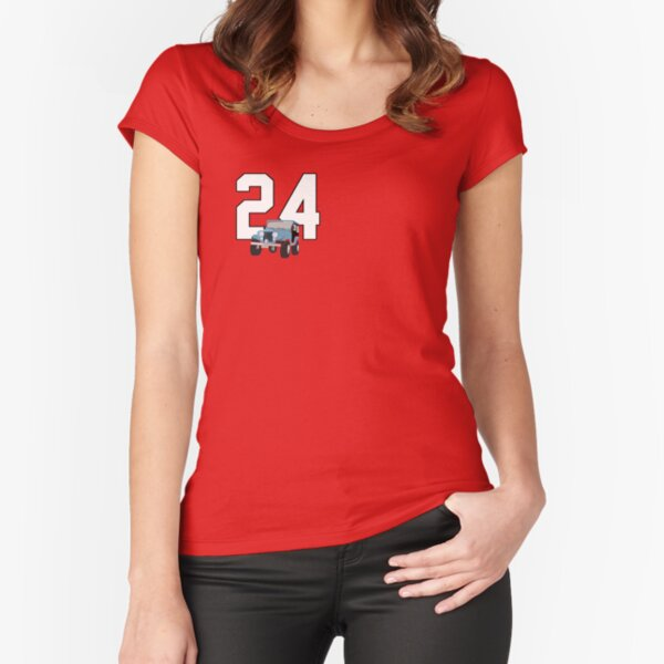 Not just a number Stiles 24 wolf Fitted Scoop T-Shirt