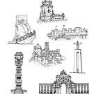 Lisbon City Landmarks by Adam Regester