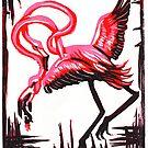 Flamingo von bdesantisart