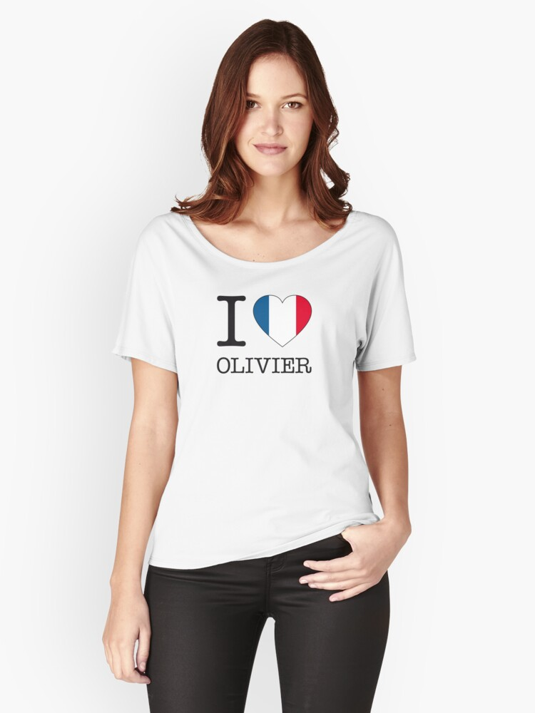 I ♥ OLIVIER Women's Relaxed Fit T-Shirt Front
