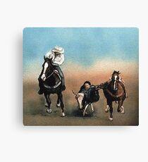 Steer Wrestling Canvas Print