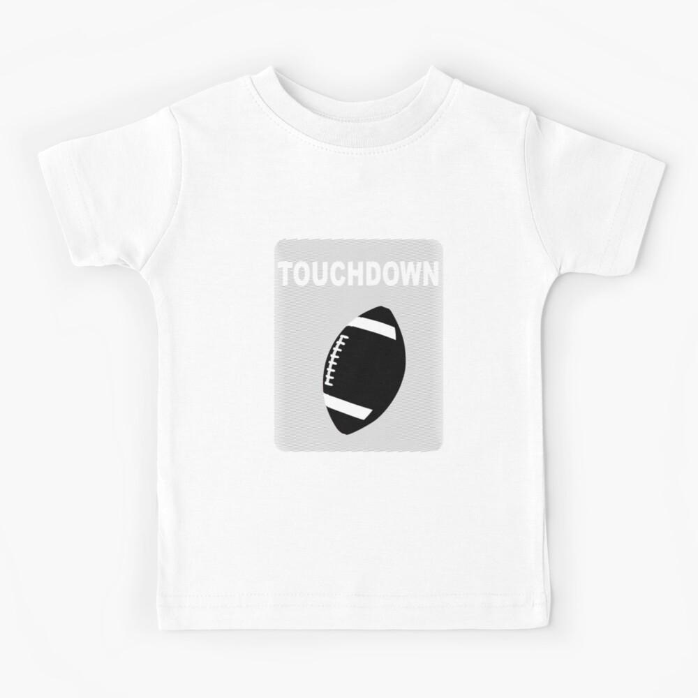 Tochdown Football schwarz American Football Design Kinder T-Shirt
