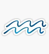 Aquarius Blue Galaxy Symbol Sticker