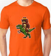 Bigfoot Riding Dino Unisex T-Shirt