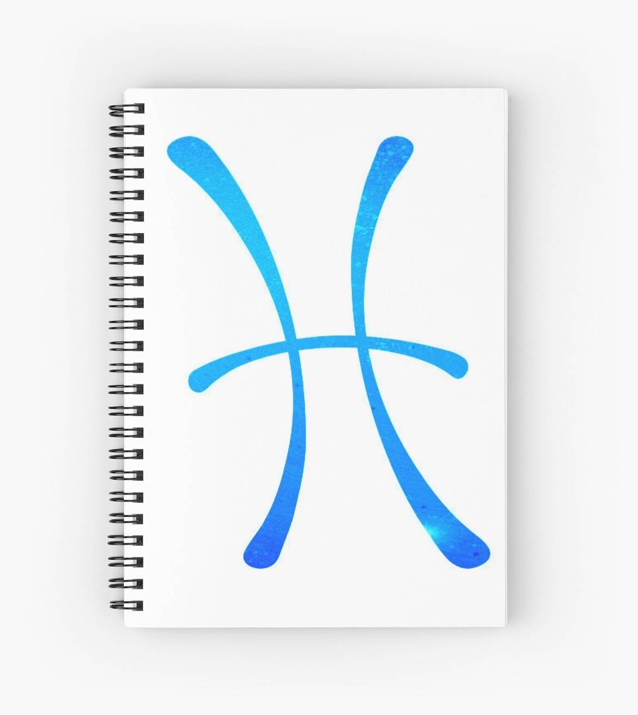 Pisces Blue Galaxy Symbol by DancingGeek