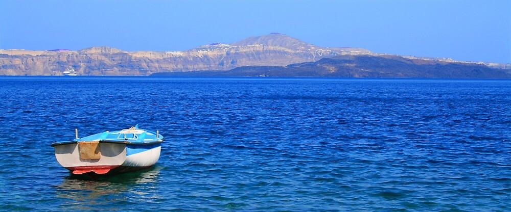 Gone Fishin' - Santorini, Greece by David McGilchrist