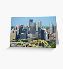 Pittsburgh from Overlook Greeting Card