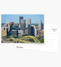 Pittsburgh from Overlook Postcards