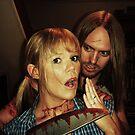 B-Grade Horror - the School Girl and the Knife by Adam Jones