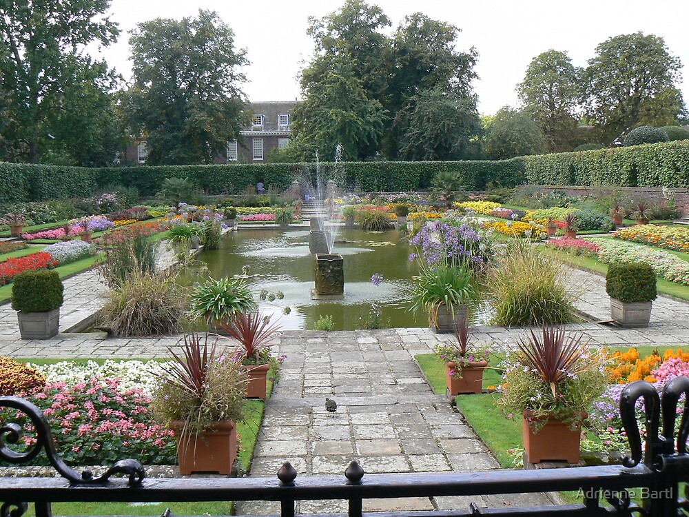 Walled Garden at Kensington Palace London England by Adrienne Bartl