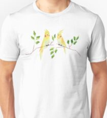 Low poly watercolor - cockatiels Unisex T-Shirt