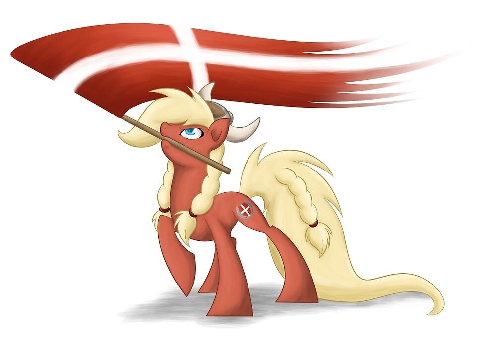 Danish Bronies with flag by Shila