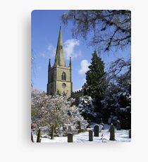 Snow Scene, Warwick, England  Canvas Print