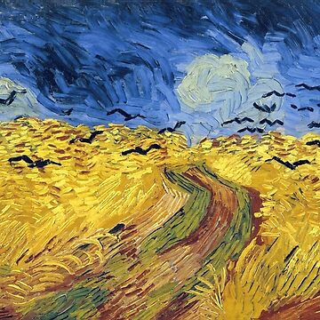 Vincent Van Gogh Wheatfield with Crows by fourretout