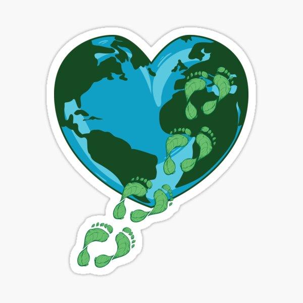 Tag der Erde Reduzieren Sie den CO2-Fußabdruck Ihres Alltags Sticker