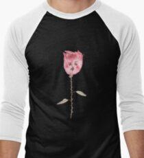 Traurige Blume Baseballshirt für Männer