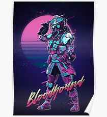 Apex Legends - Bloodhound 80s Retro Outrun Poster Poster