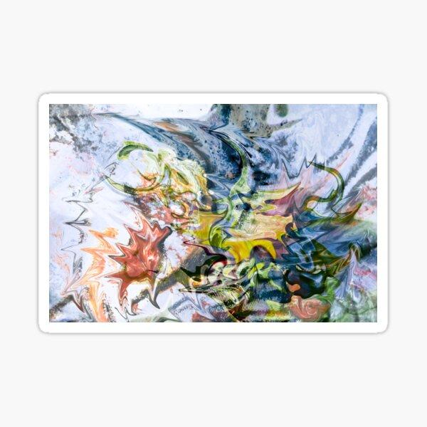 fluid objects art abstraction Sticker