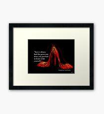 Ruby Red Slippers Framed Print