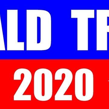 Donald Trump for President 2020 Sticker Decal Mug Shirt by merkraht