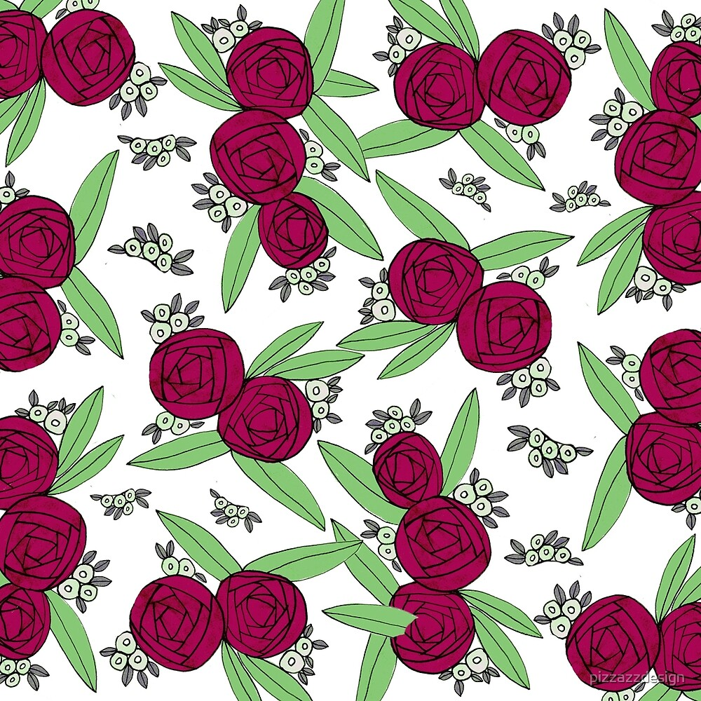 Maroon Ranunculus by pizzazzdesign