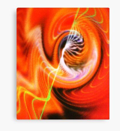 Hearing sound waves. Canvas Print