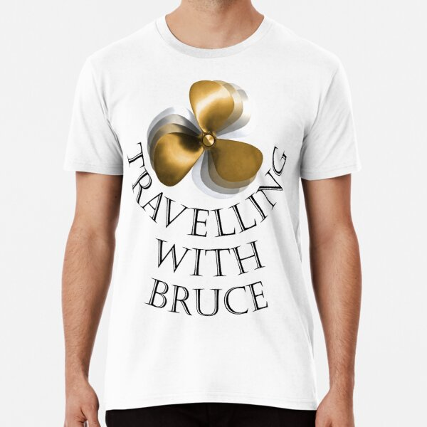 Travelling with Bruce Propeller Logo Premium T-Shirt