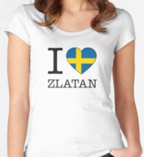 I ♥ ZLATAN Women's Fitted Scoop T-Shirt
